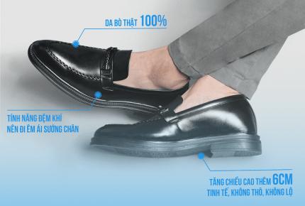 Tính năng tăng chiều cao của giày Smartmen có gì đặc biệt?